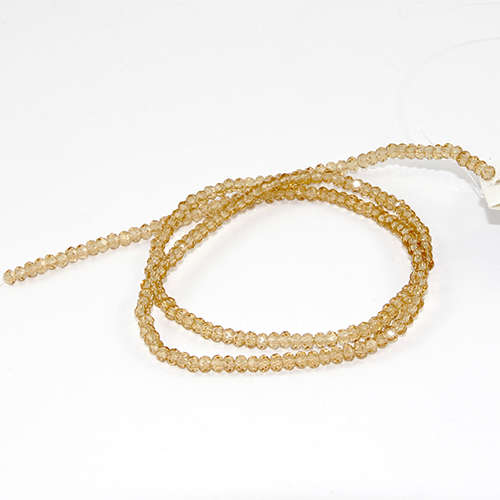 2mm x 3mm Glass Rondelle - 38cm Strand - Golden Shadow