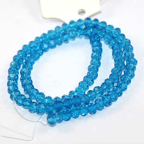 4mm x 6mm Glass Rondelle - 38cm Strand - Dark Teal