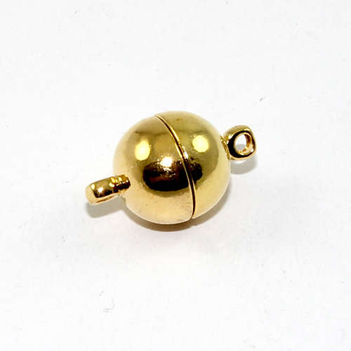 10mm Plain Round Single Strand Magnet - Bright Gold