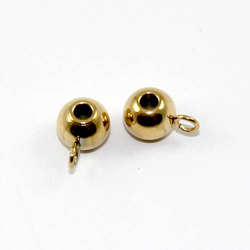 5mm x 9mm Ball Hanger - Gold