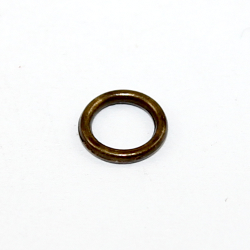 8mm Soldered Alloy Ring - Antique Bronze