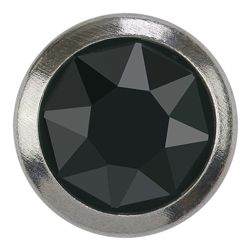 2078H - SS20 (4.60 - 4.80 mm) - Jet Hematite A HF SR (280 HEM) - Framed Xirius Rose Hot Fix Flat Back Crystal