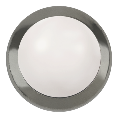 2080H - SS34 (7.07 - 7.27 mm) - Crystal White Pearl HF GM (001 650) - Framed Cabochon Hot Fix Flat Back Crystal