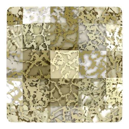 2493 - 10mm - Crystal Gold Patina M HF (001 GOLPA) - Chessboard Hot Fix Flat Back Crystal