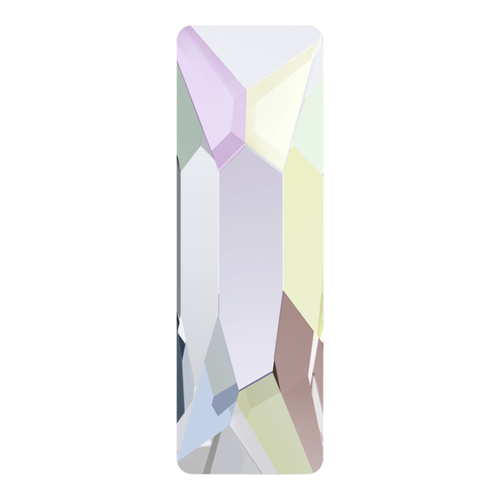 2555 - 12mm x 4mm - Crystal AB M HF (001 AB) - Cosmic Baguette Hot Fix Flat Back Crystal