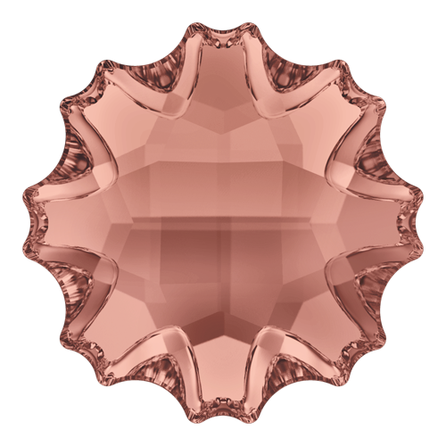 2612 - 14mm - Blush Rose F (257) - Jelly Fish (Partly Frosted) No Hot Fix Flat Back Crystal