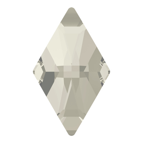 2709 - 10mm x 6mm - Crystal Silver Shade F (001 SSHA) - Rhombus No Hot Fix Flat Back Crystal