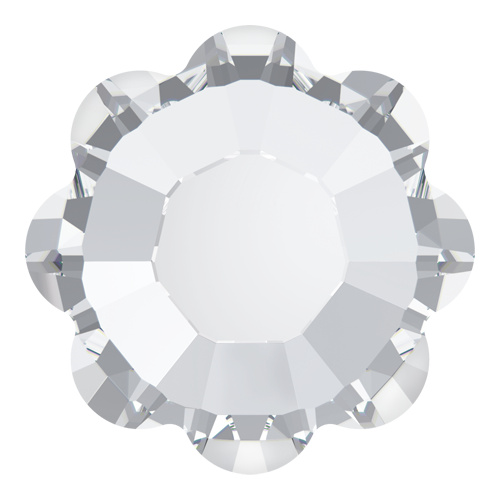 2728 - SS34 (7.07 - 7.27mm) - Crystal M HF (001) - Marguerite Hot Fix Flat Back Crystal