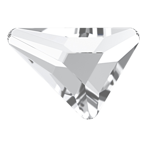 2739 - 7mm x 6.5mm - Crystal F (001) - Beta Triangle No Hot Fix Flat Back Crystal