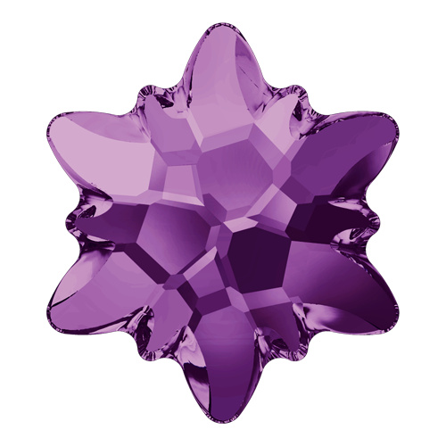 2753 - 14mm - Amethyst M HF (204) - Edelweiss Hot Fix Flat Back Crystal