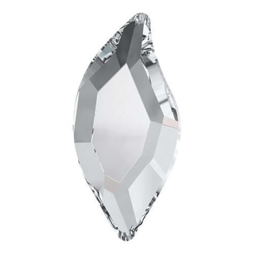 2797 - 8mm x 4mm - Crystal F (001) - Diamond Leaf No Hot Fix Flat Back Crystal