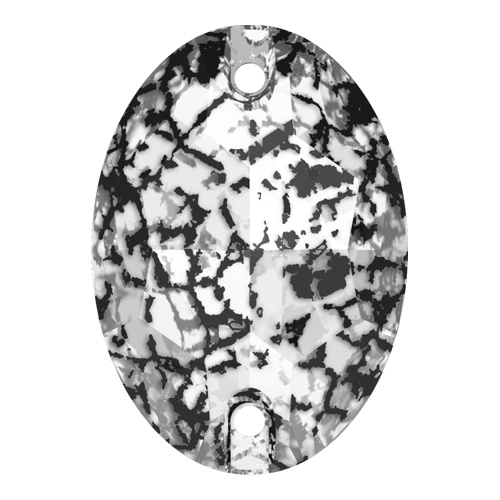 3210 - 10mm x 7mm - Crystal Black Patina F (001 BLAPA) - Oval Sew-On Crystal