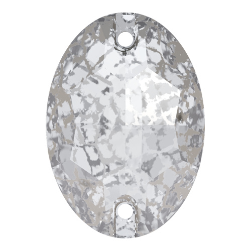 3210 - 24mm x 17mm - Crystal Silver Patina F (001 SILPA) - Oval Sew-On Crystal