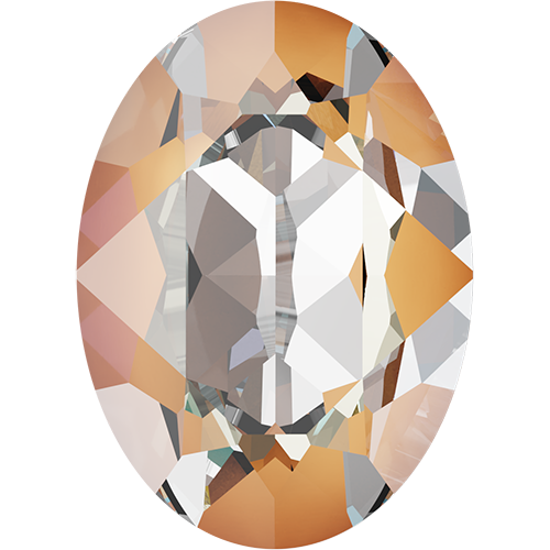 4120 - 18mm x 13mm - Crystal Peach DeLite (001 L140D) - Oval Crystal Fancy Stone