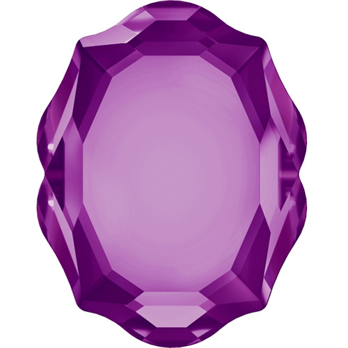 4142 - 8mm x 10mm - Amethyst F (204) - Baroque Mirror Fancy Stone