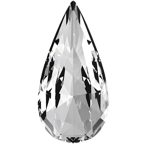 4322 - 14mm x 7mm - Crystal F (001) - Teardrop Fancy Stone