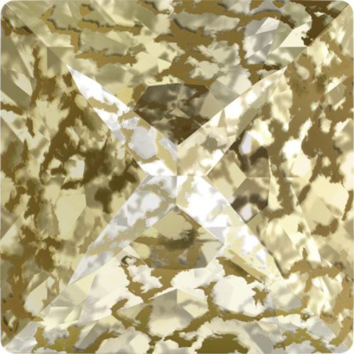 4418 - 6mm - Crystal Gold Patina F (001 GOLPA) - Xilion Pointed Fancy Stone