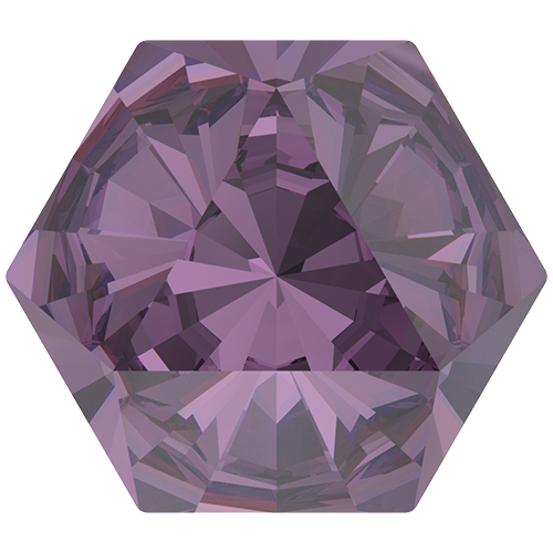 4699 - 9.4mm x 10.8mm - Amethyst F (204) - Kaleidoscope Hexagon Fancy Stone