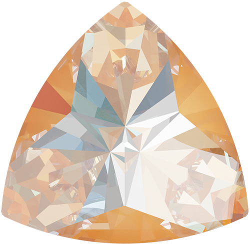 4799 - 6mm x 6.1mm - Crystal Peach DeLite (001 L140D) - Kaleidoscope Triangle Fancy Stone