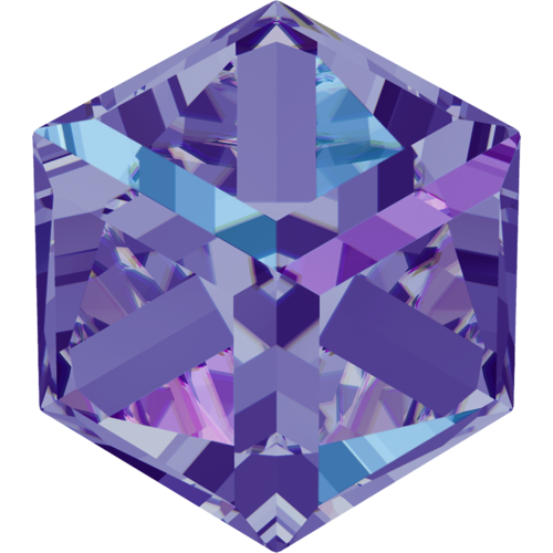 4841 - 6mm - Crystal Heliotrope Z (001 HELZ) - Cube Fancy Stone