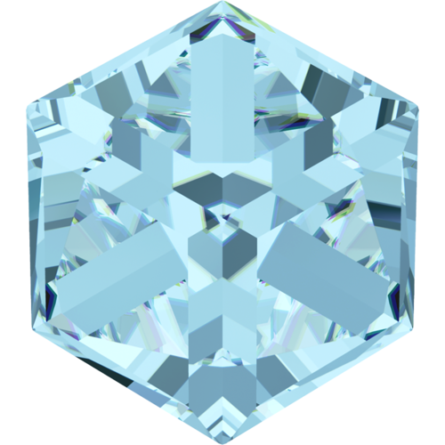 4841 - 8mm - Aquamarine Comet Arg. Light VZ (202 CAVZ) - Cube Fancy Stone