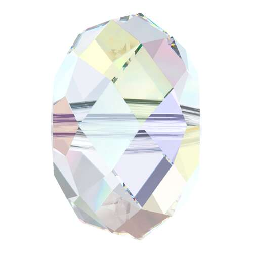 5040 - 6mm - Crystal AB (001 AB) - Briolette Crystal Bead