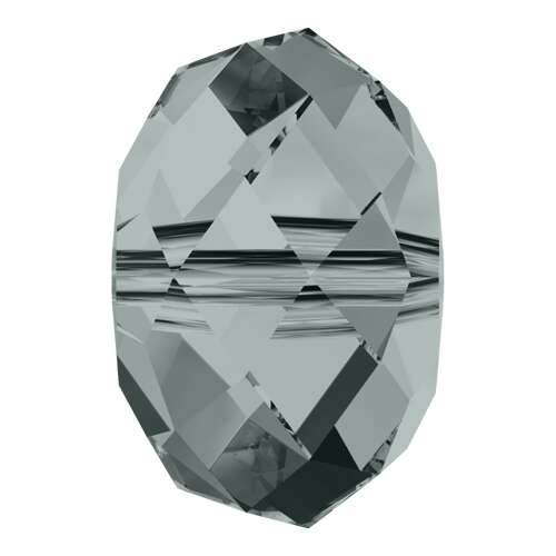 5040 - 6mm - Black Diamond (215) - Briolette Crystal Bead