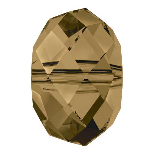 5040 - 12mm - Crystal Bronze Shade (001 BRSH) - Briolette Crystal Bead