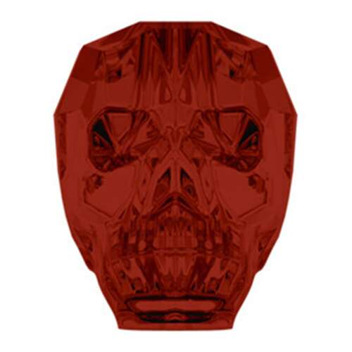 5750 - 19mm - Crystal Red Magma (001 REDM) - Skull Crystal Bead