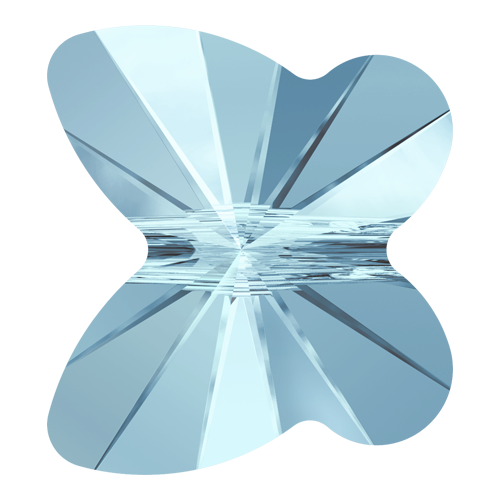5754 - 6mm - Aquamarine (202) - Butterfly Crystal Bead