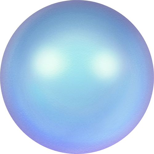 5810 - 8mm - Crystal Iridescent Light Blue Pearl (001 948) - Round Crystal Pearls