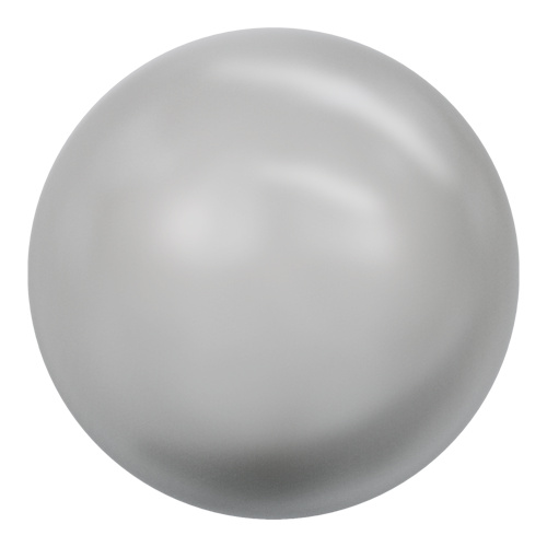 5811 - 12mm - Crystal Light Grey Pearl (001 616) - Round (Large Hole) Crystal Pearl