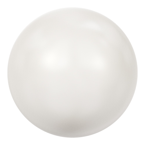5811 - 12mm - Crystal White Pearl (001 650) - Round (Large Hole) Crystal Pearl