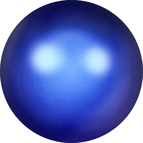 5817 - 8mm - Crystal Iridescent Dark Blue Pearl (001 949) - Cabochon Flat Back Crystal Pearl