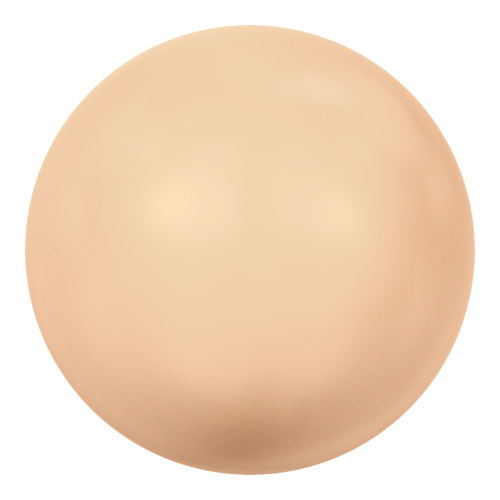 5818 - 6mm - Crystal Peach Pearl (001 300) - Round Half Drilled Crystal Pearl