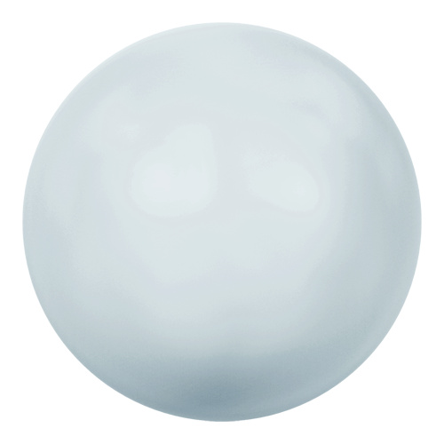 5818 - 6mm - Crystal Pastel Blue Pearl (001 966) - Round Half Drilled Crystal Pearl