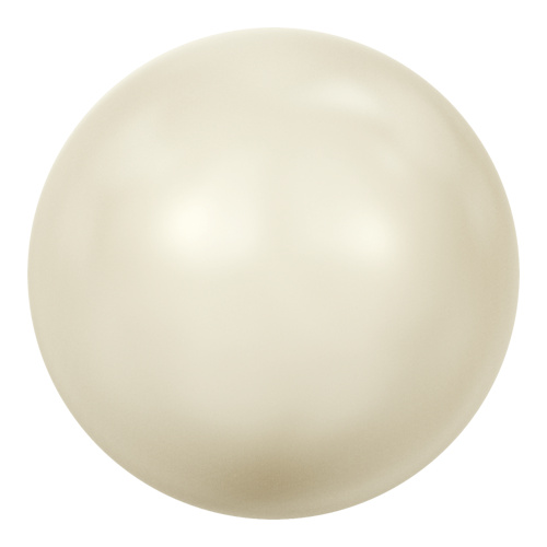 5818 - 10mm - Crystal Cream Pearl (001 620) - Round Half Drilled Crystal Pearl
