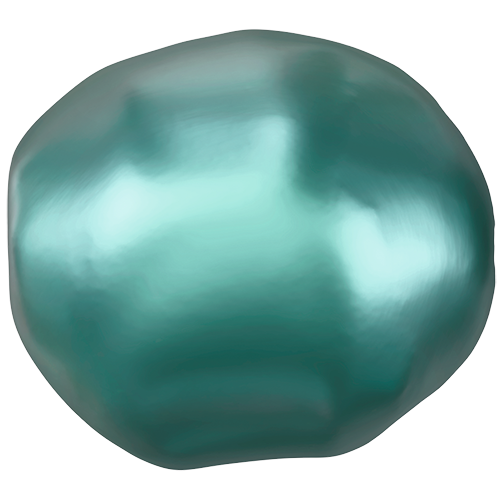 5840 - 10mm - Crystal Iridescent Tahitian Look Pearl (001 2004) - Baroque Crystal Pearl