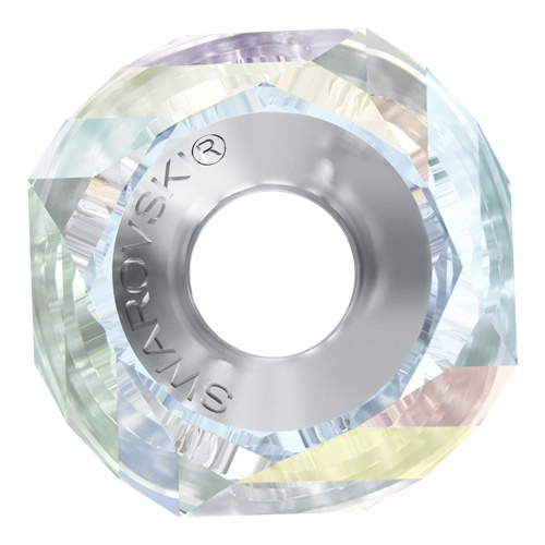 5928 - 14mm Steel - Crystal AB (001 AB) - BeCharmed Helix Bead