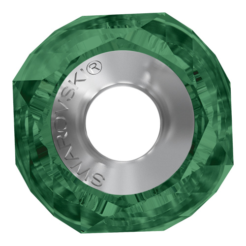 5928 - 14mm Steel - Emerald (205) - BeCharmed Helix Bead