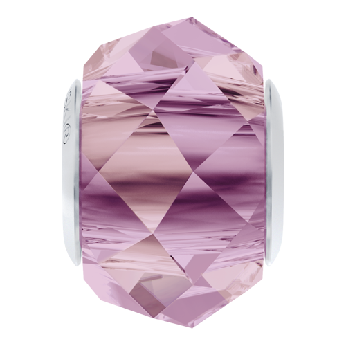 5948 - 14mm Steel - Crystal Lilac Shadow (001 LISH) - BeCharmed Briolette Crystal Bead