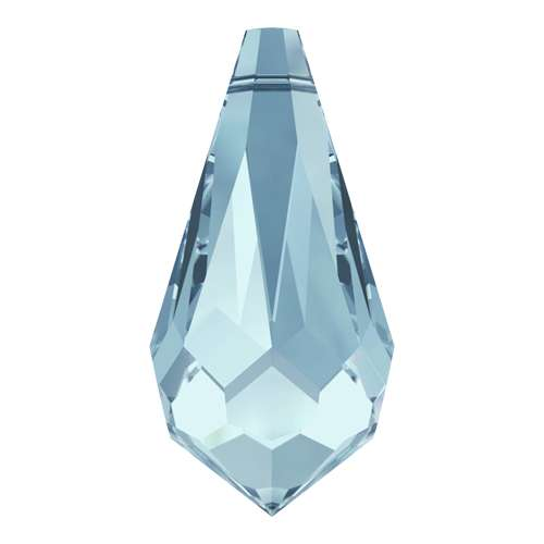 6000 - 11mm x 5.5mm - Aquamarine (202) - Pencil Drop Pendant