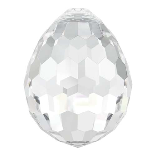 6002 - 10mm x 7mm - Crystal (001) - Disco Drop Crystal Pendant