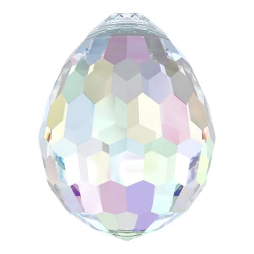 6002 - 15mm x 11.5mm - Crystal AB (001 AB) - Disco Drop Crystal Pendant