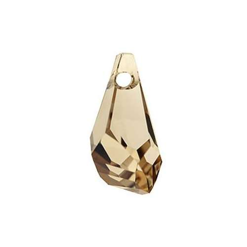6015 - 17mm - Crystal Golden Shadow (001 GSHA) - Polygon Drop Crystal Pendant