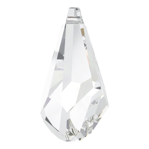 6015 - 50mm - Crystal (001) - Polygon Drop Crystal Pendant