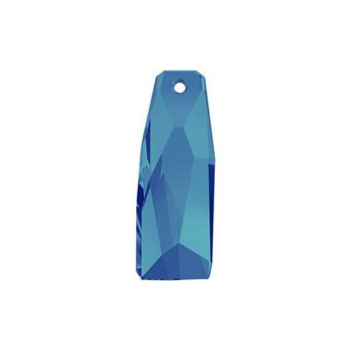 6019/G - 35mm - Crystal Bermuda Blue (001 BB) - Petite Crystalactite (Partly Frosted) Crystal Pendant