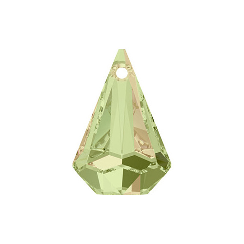 6022 - 33mm - Crystal Luminous Green (001 LUMG) - Raindrop Crystal Pendant