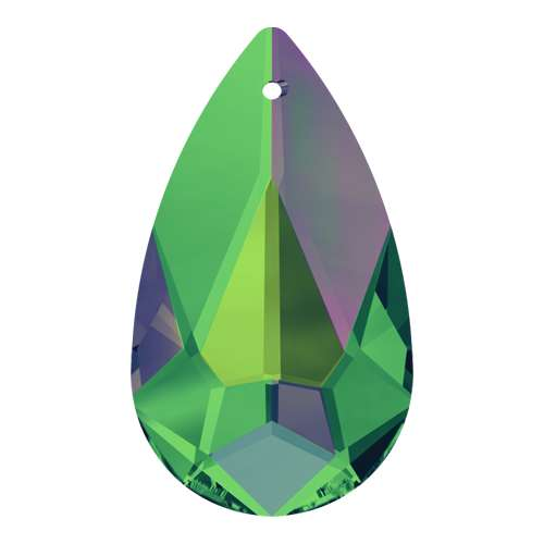 6100 - 24mm x 12mm - Crystal Vitrail Medium (001 VM) - Teardrop Crystal Pendant