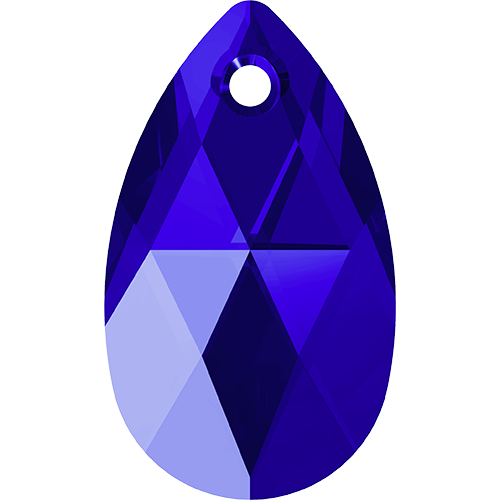 6106 - 22mm - Majestic Blue (296) - Pear Crystal Pendant